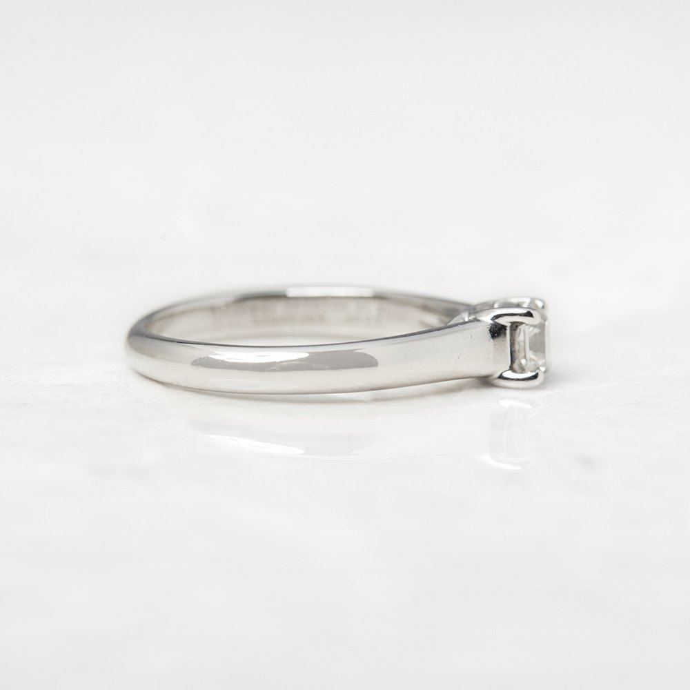 Tiffany & Co. Platinum 0.40ct Diamond Lucida Ring