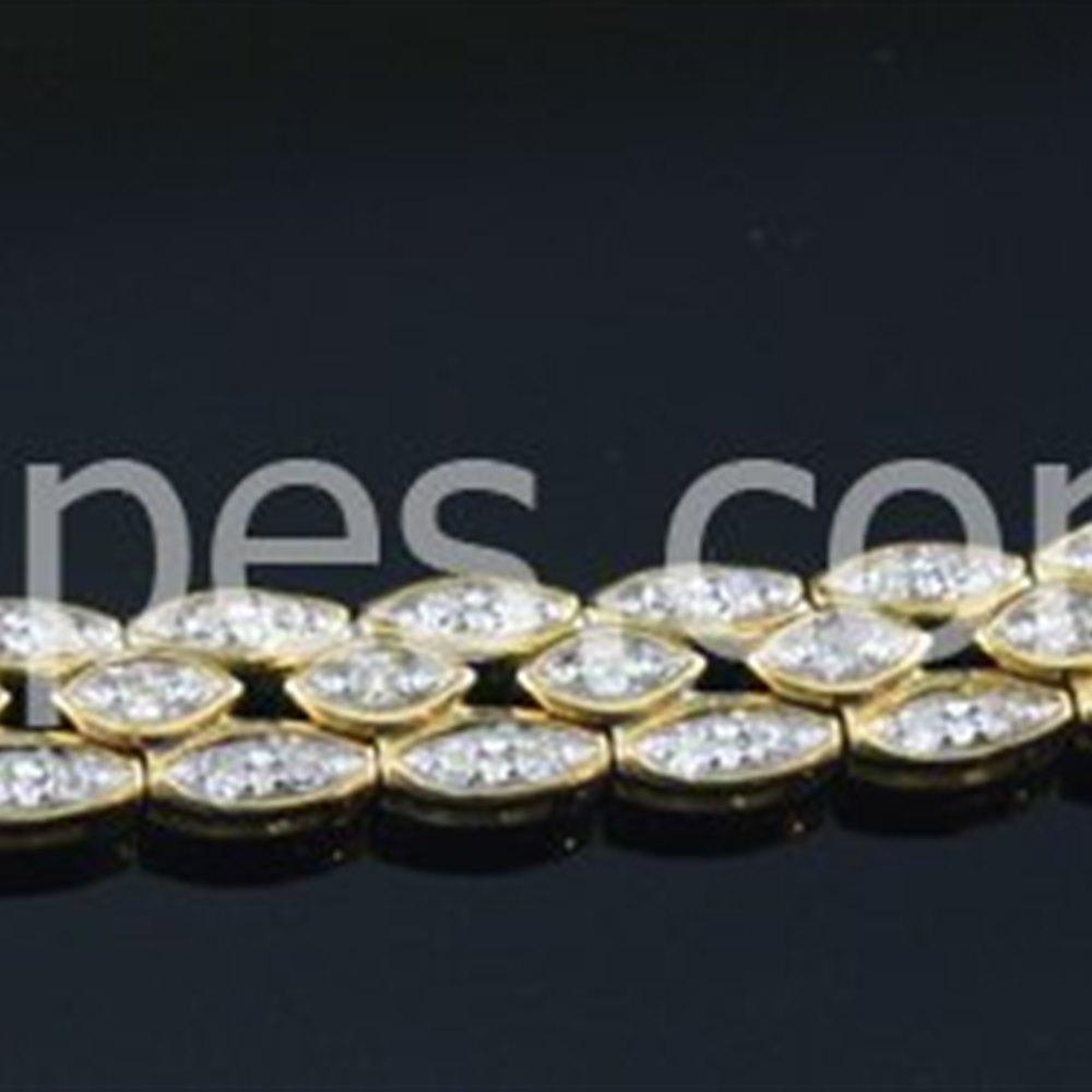 18k Yellow Gold  18K Yellow Gold Diamond Bracelet