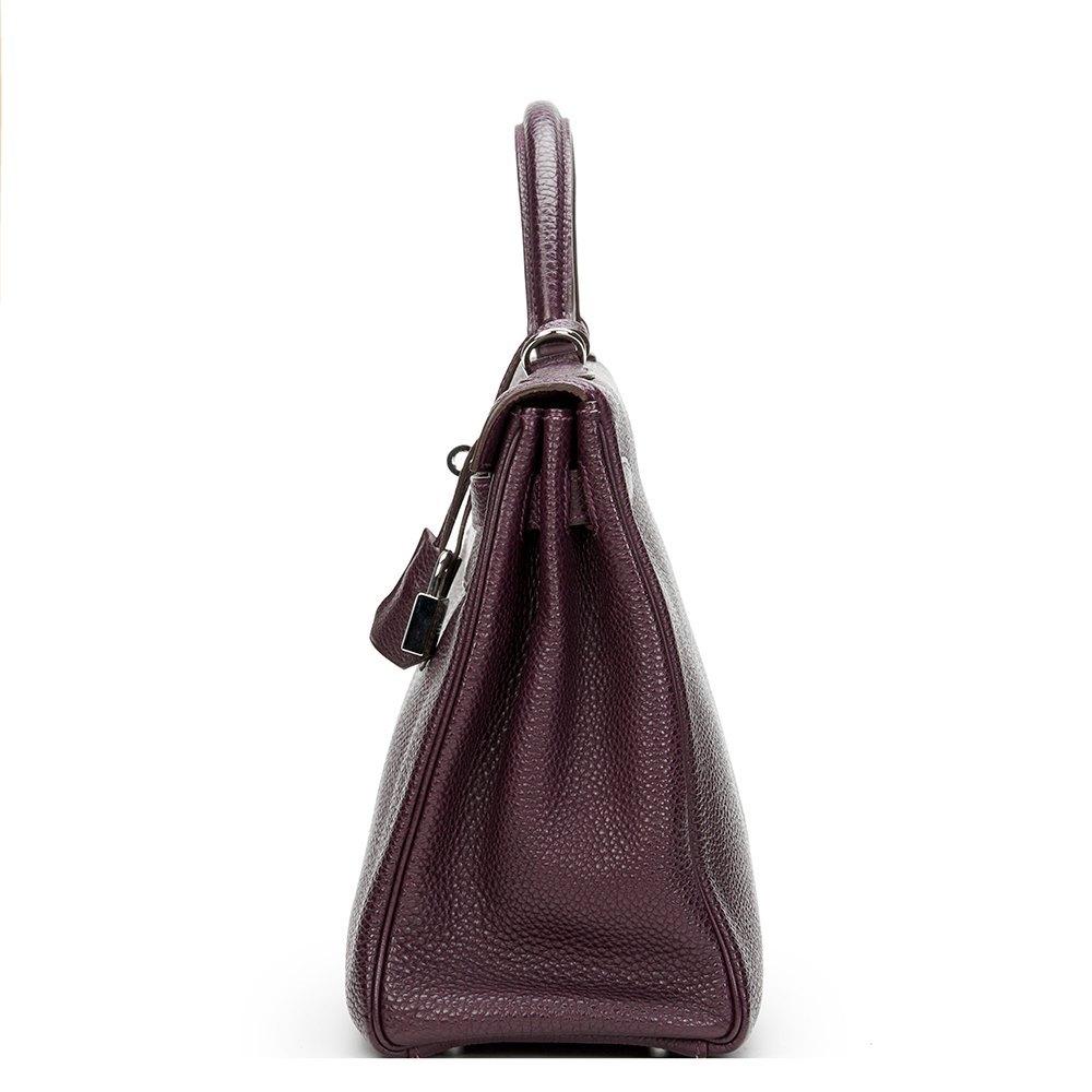 19e87d18f8 ... closeout hermès raisin togo leather kelly 32cm retourne cbfdb d386d ...