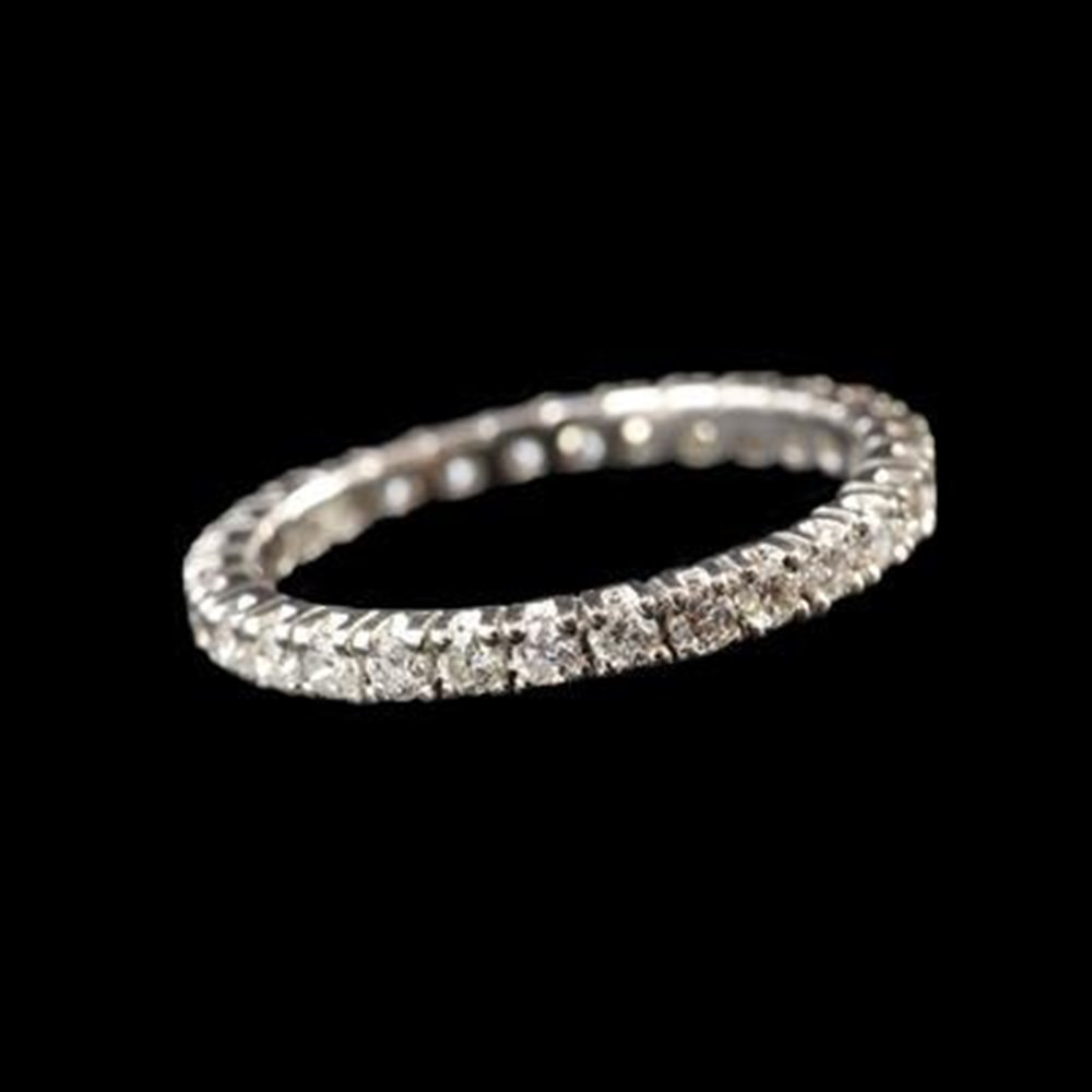 18k White Gold 18K White Gold Full Set Eternity Diamond Band Ring
