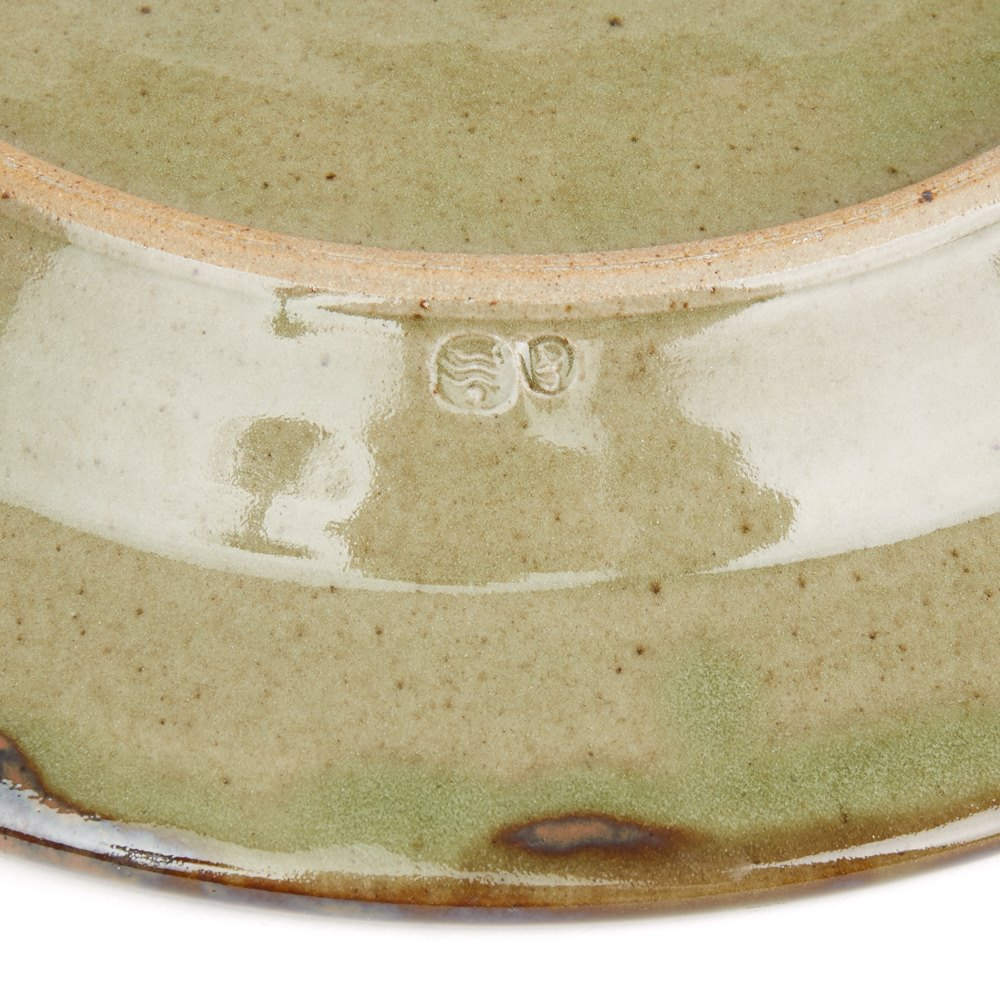 DAVID FRITH ABSTRACT DECORATED STONEWARE DISH 20TH C. 20th Century