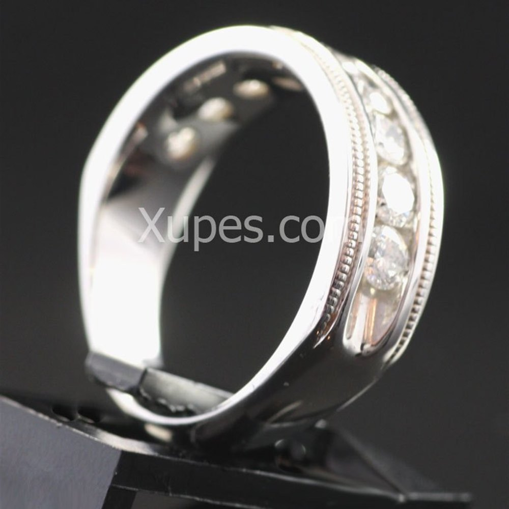18k White Gold 18K White Gold Half Eternity Diamond Ring