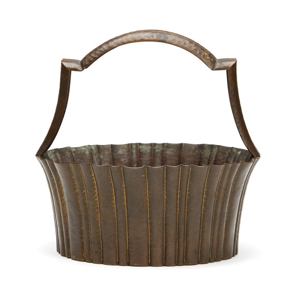 Wiener Werkstatte Brass Basket C.1920 Circa 1920