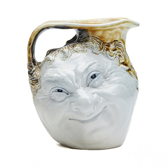 ROBERT WALLACE MARTIN FACE JUG MARTIN BROTHERS EARLY 20 C.