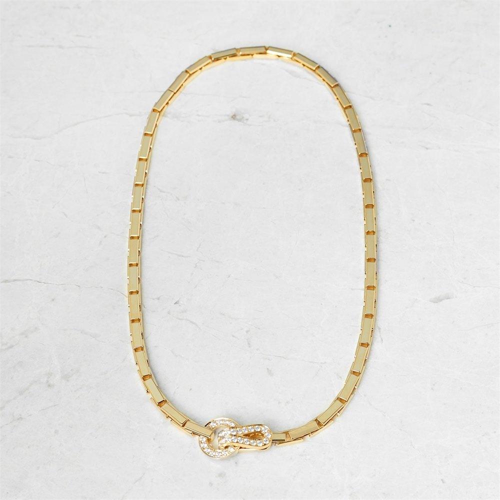 Cartier 18k Yellow Gold Diamond Agrafe Necklace