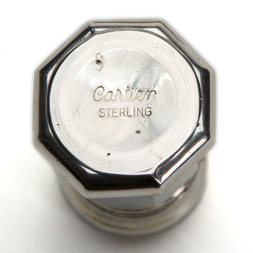 CARTIER VINTAGE BOXED STERLING SILVER CRUETS 20TH C. Believed early to mid 20th Century