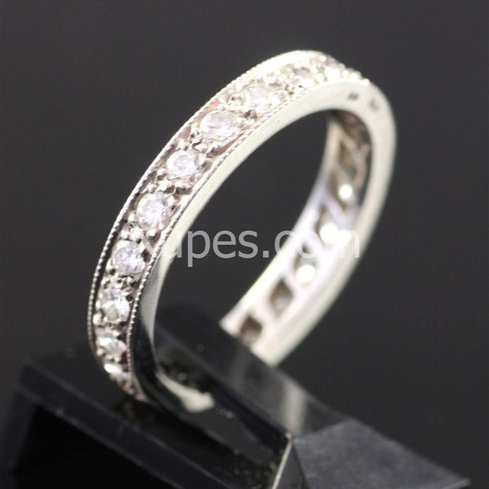 Platinum Stunning 1950'S Hallmarked Platinum Full Eternity Diamond Ring