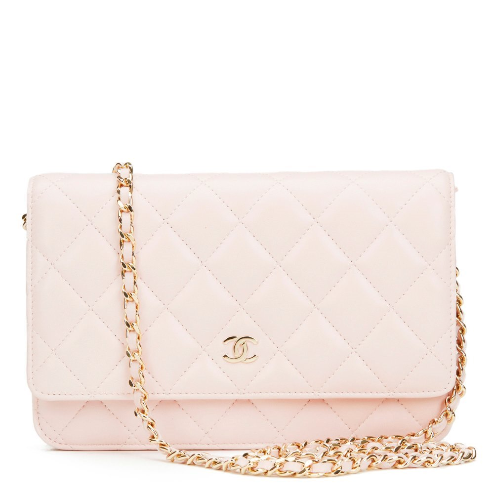 a6bf79781e4b Chanel Pink Quilted Lambskin Leather Wallet-on-Chain WOC
