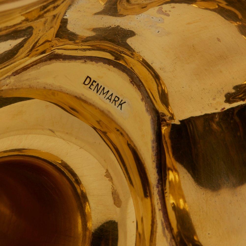 TIFFANY & CO FOUR DANISH GILT SILVER CANDLESTICKS 20th Century