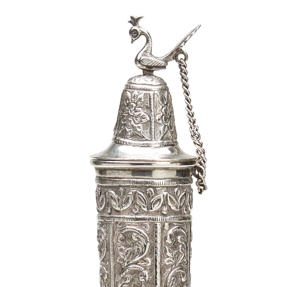 Silver Rose Water Bottle C.1900 Circa 1900