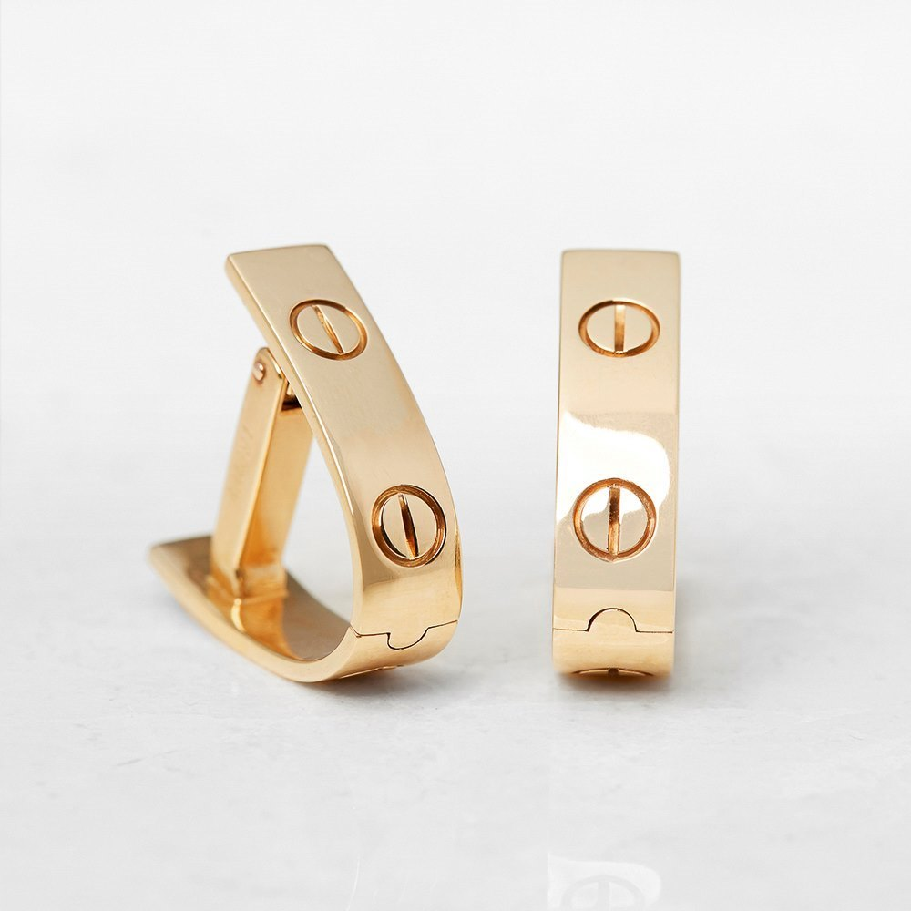 Cartier 18k Yellow Gold Love Cufflinks