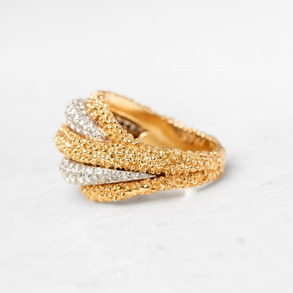 Van Cleef & Arpels 18k Yellow Gold Diamond Vintage Ring