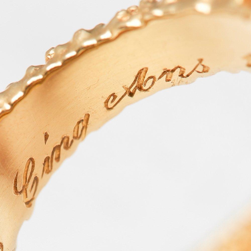 Van Cleef & Arpels 18k Yellow Gold Diamond Vintage Ring