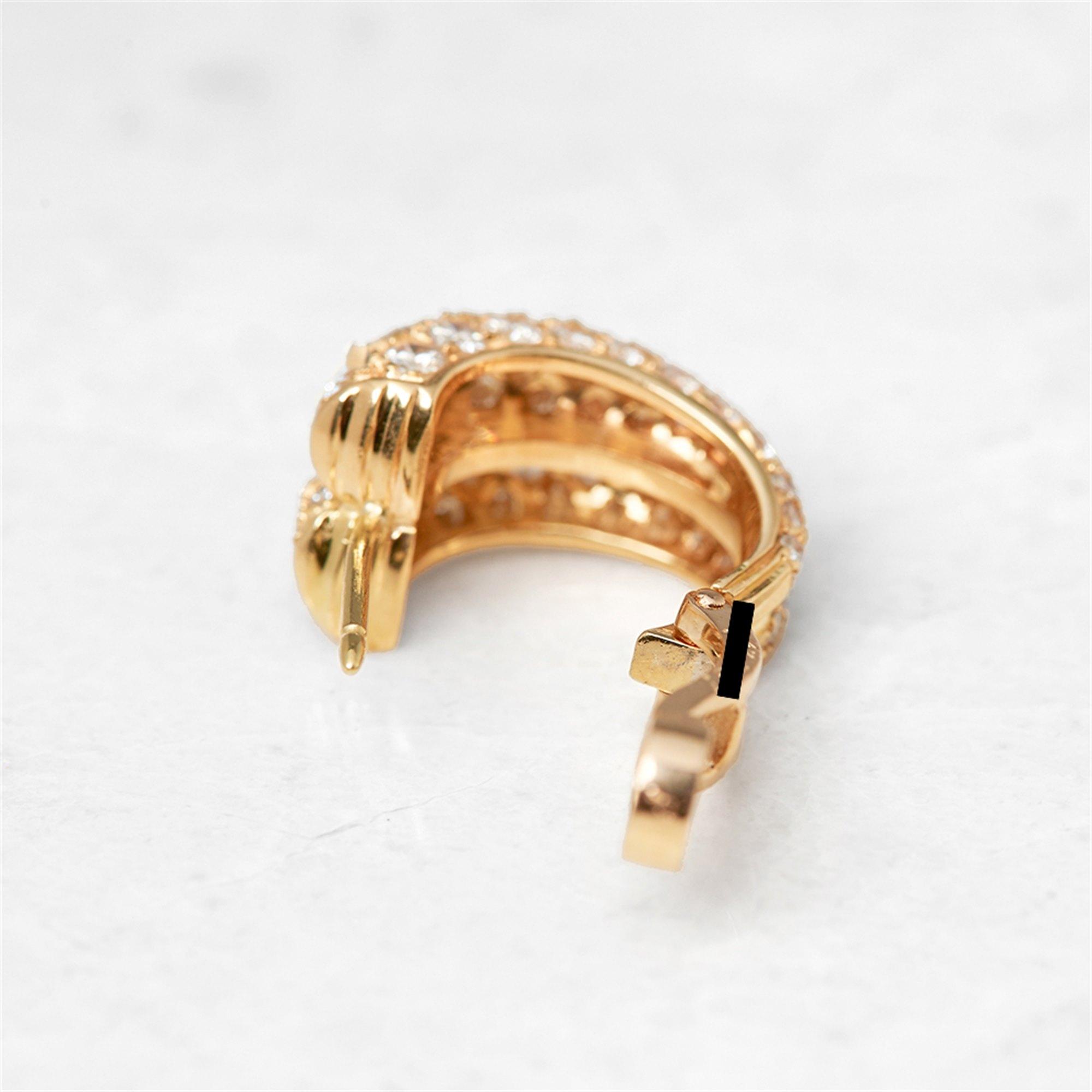 Cartier 18k Yellow Gold Diamond Double Hoop Earrings