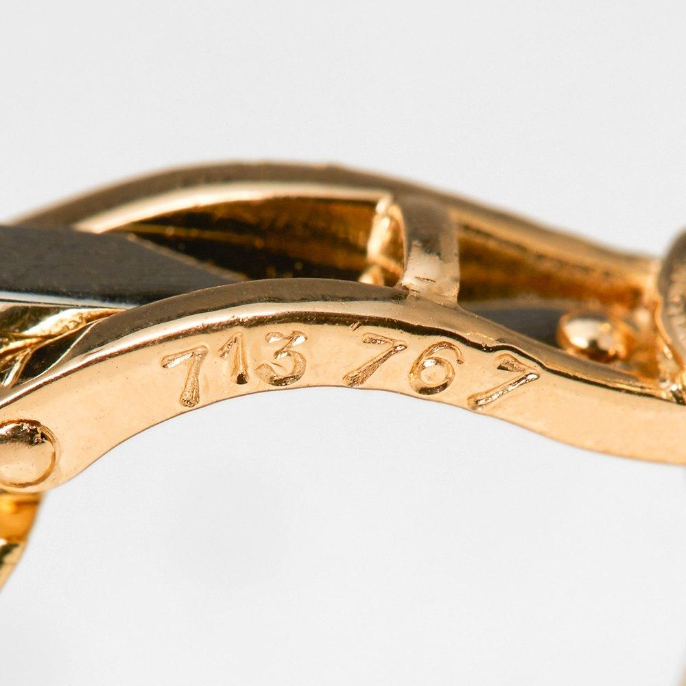 Cartier 18k Yellow Gold Double Hoop Diamond Earrings