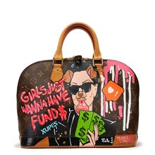 Louis Vuitton Xupes x Year Zero London Handpainted 'Momager' Alma PM 3/3