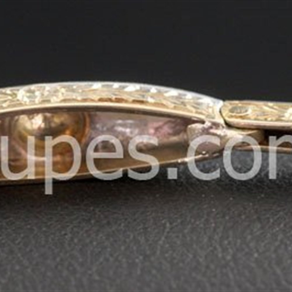 18k Yellow Gold & Platinum  Beautiful 1920'S Art Deco 18K Yellow Gold Platinum Top Set Diamond Bracelet