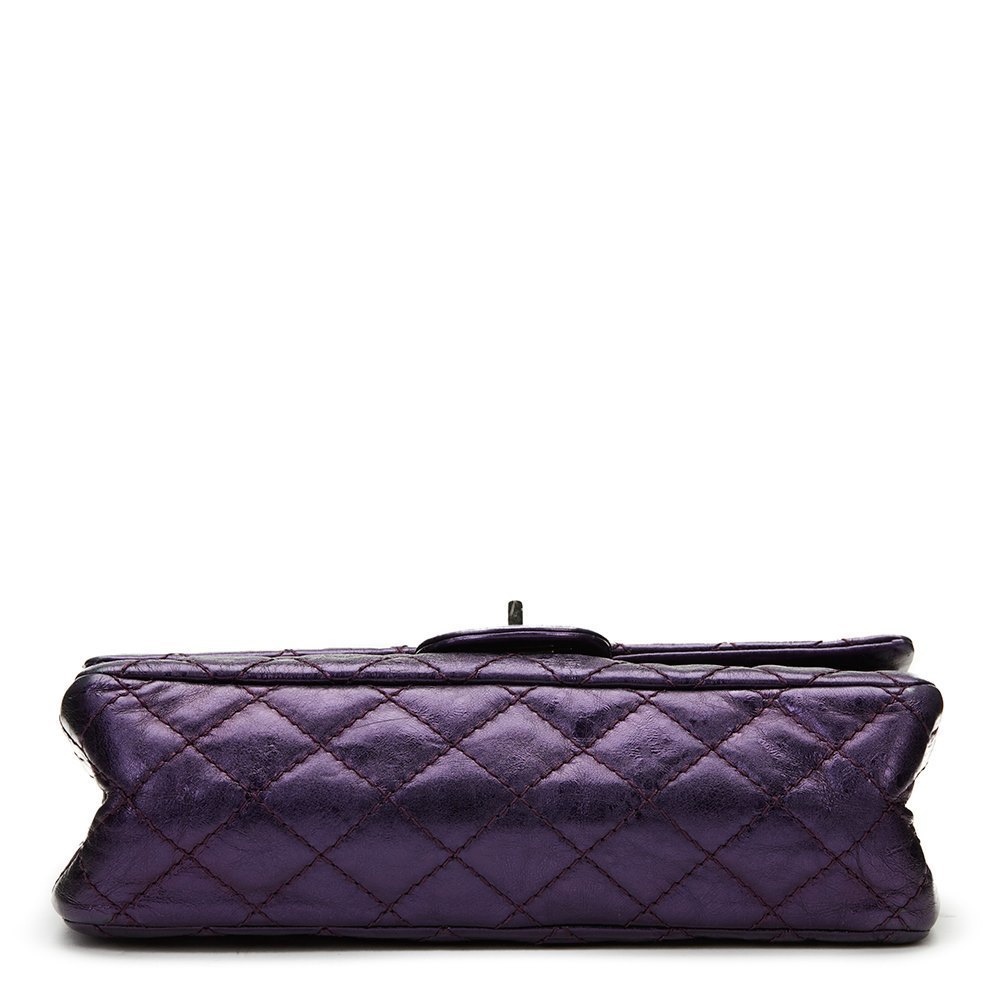 b3f9b816d45103 Chanel Violet Aged Metallic Calfskin Leather 2.55 Reissue 225 Double Flap  Bag