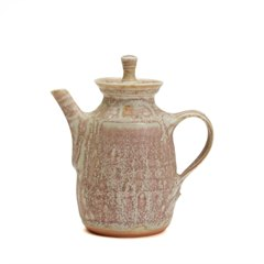MARY RICH STUDIO POTTERY MINIATURE TEAPOT 20TH C. - PINK