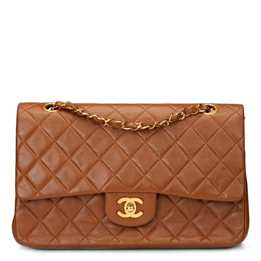 7ff73ed0a965 Chanel Chocolate Brown Quilted Lambskin Vintage Medium Classic Double Flap  Bag