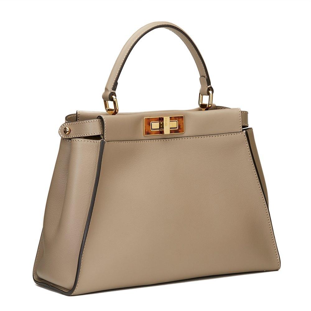 6963c372dd ... handbag designer de4b7 b9ecc italy fendi dove grey calfskin regular  peekaboo 32249 8c45b ...