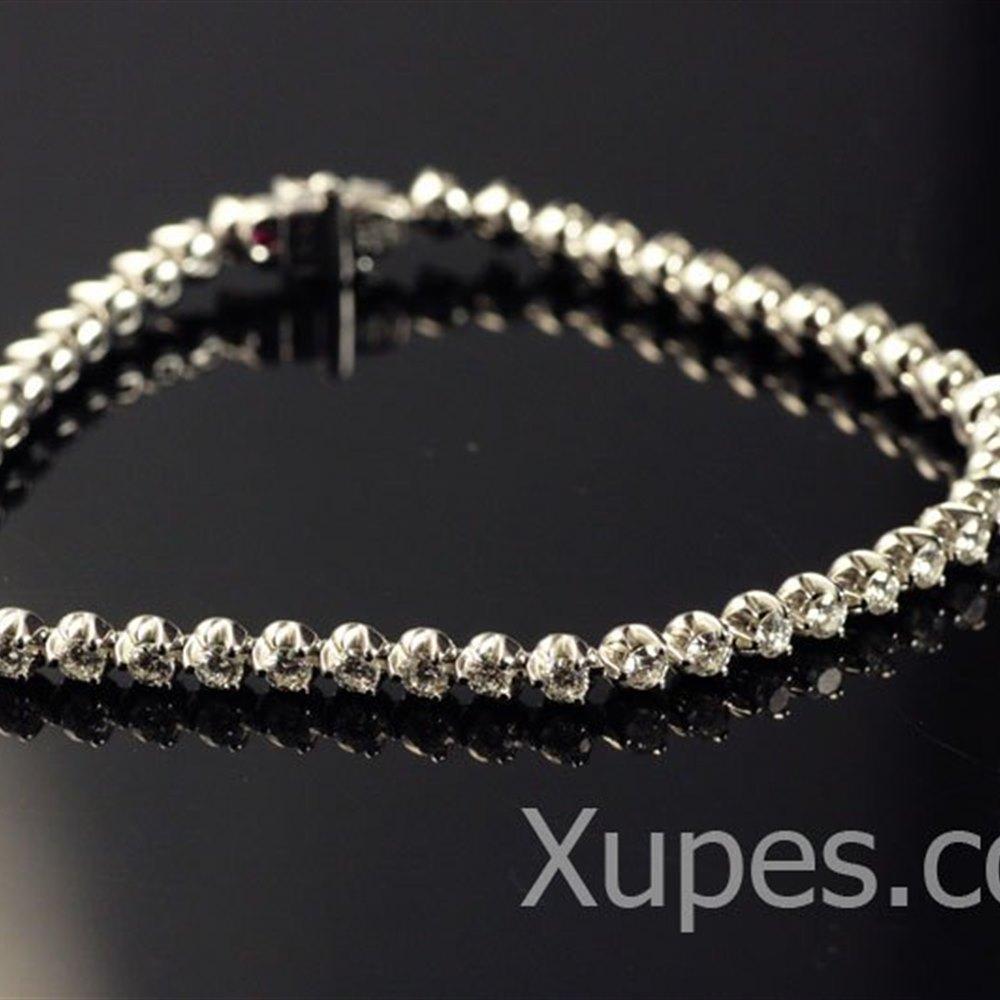 Mappin & Webb Roberto Coin Cento 18K Diamond Tennis Bracelet