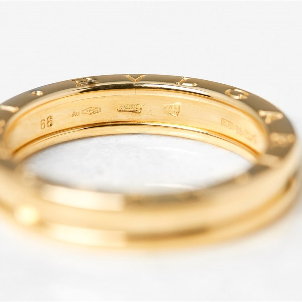 Bulgari 18k Yellow Gold 1 Band B.Zero 1 Ring Size X