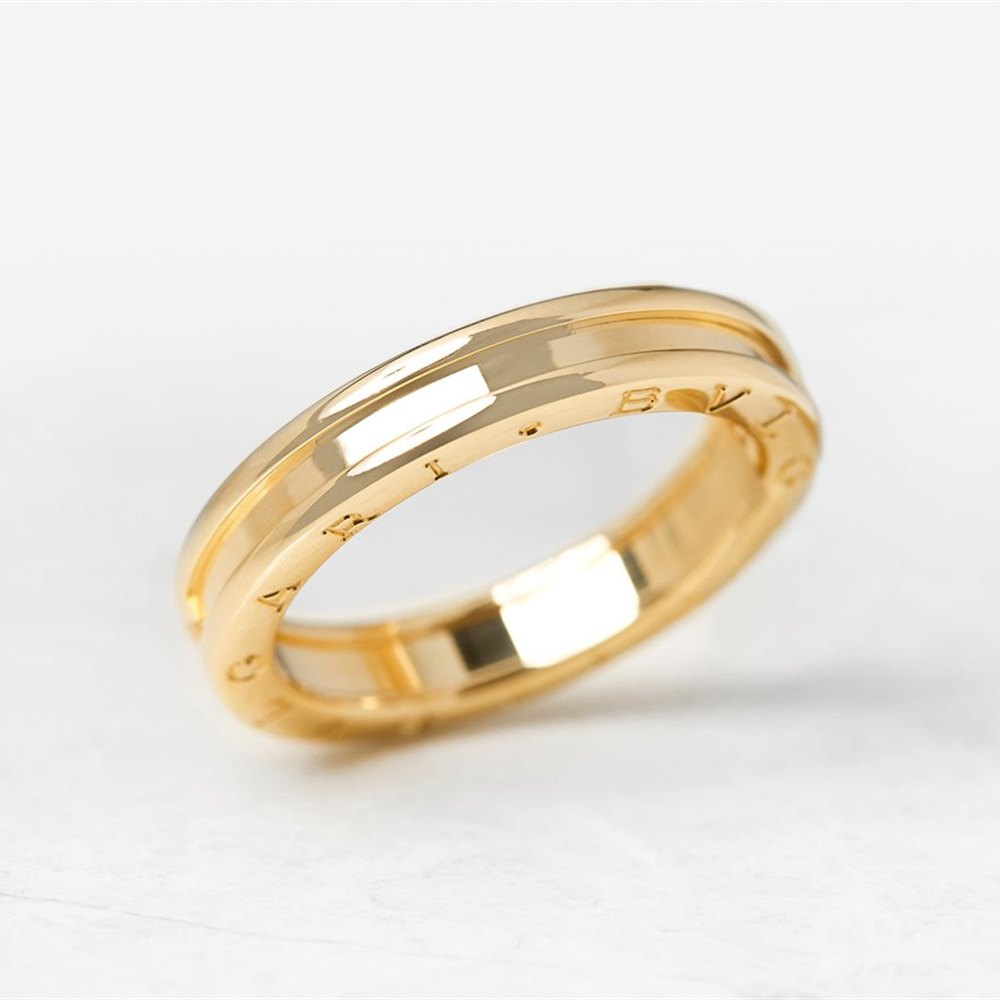 4d3e6a28b39ee Bulgari 18k Yellow Gold 1 Band B.Zero 1 Ring Size X COM1073 | Second ...