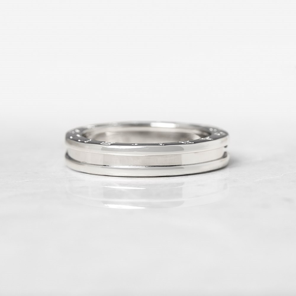 Bulgari 18k White Gold 1 Band B.Zero 1 Ring Size S