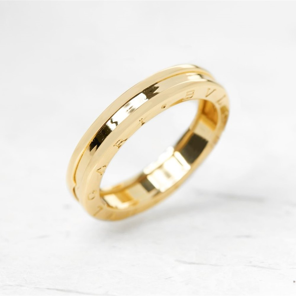 Bulgari 18k Yellow Gold 1 Band B.Zero 1 Ring Size V
