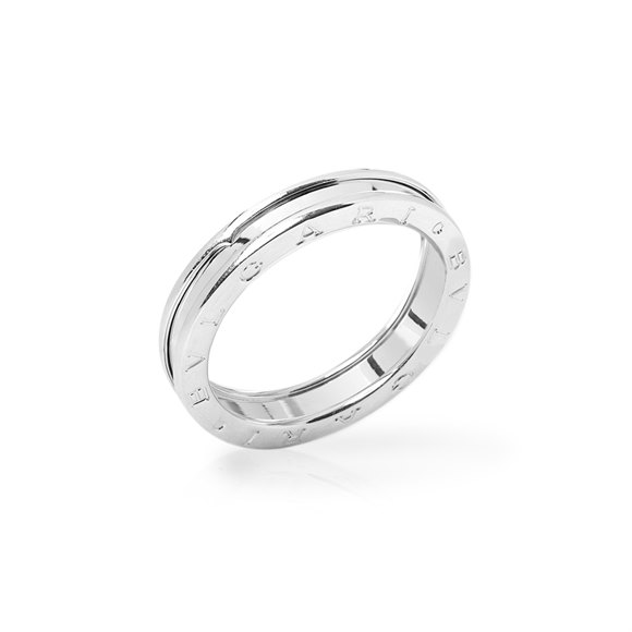 Bulgari 18k White Gold 1 Band B.Zero 1 Ring AN852423
