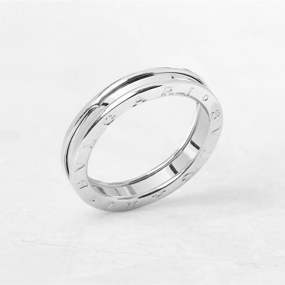 Bulgari 18k White Gold 1 Band B.Zero 1 Ring Size X