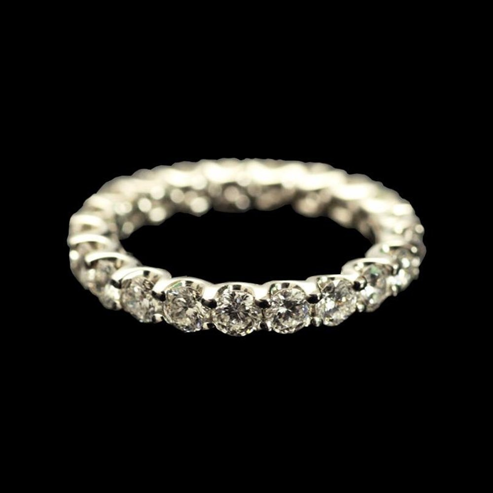 Roberto Coin Cento Platinum Diamond Eternity Ring