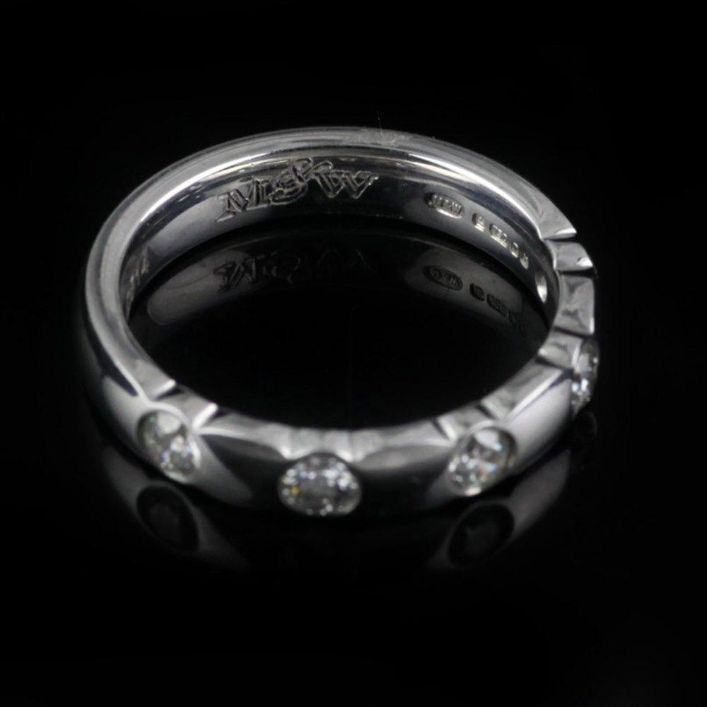 Mappin & Webb 5 Diamond 18K Ring