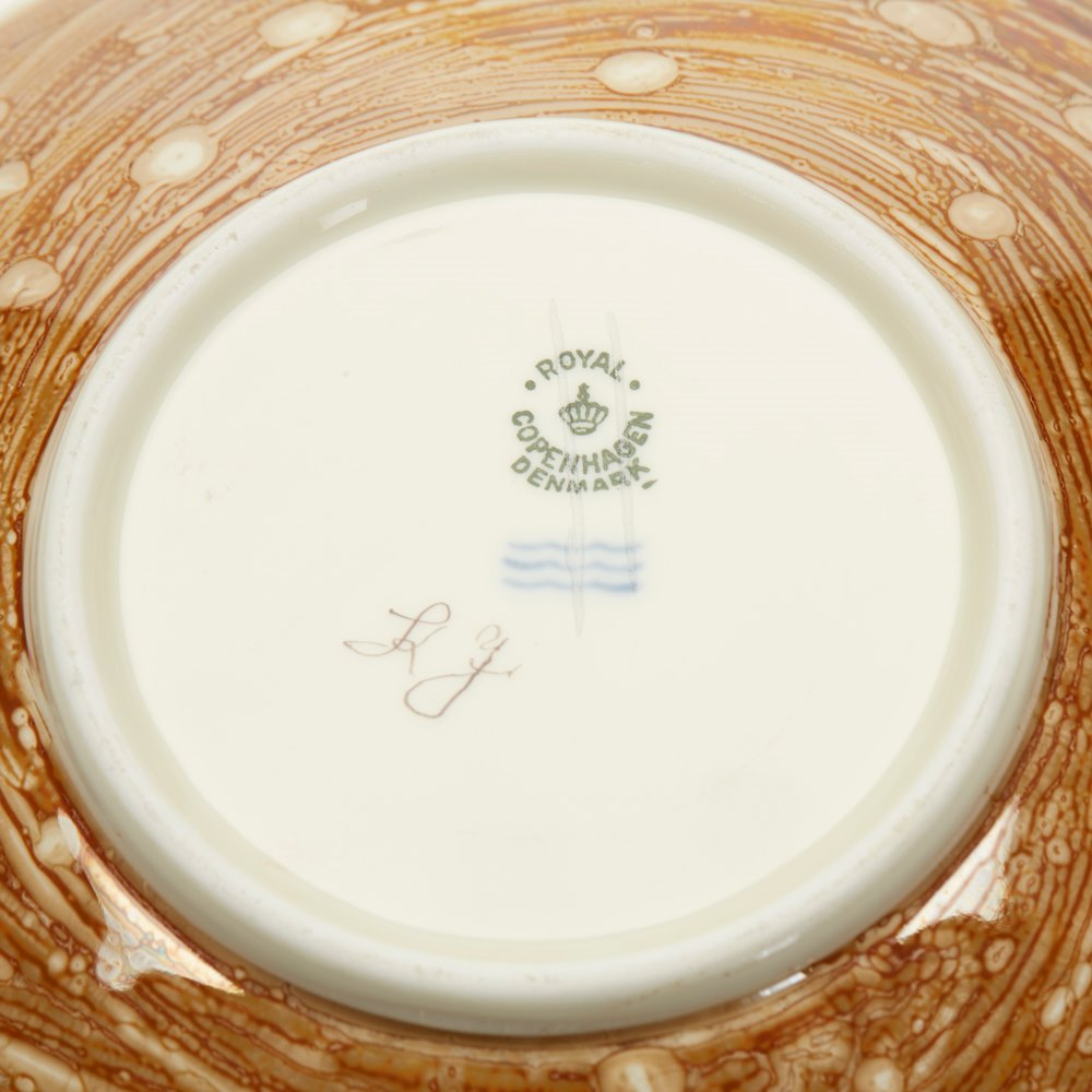 Vintage Copenhagen Lustre Dish 1961 Date coded for 1961