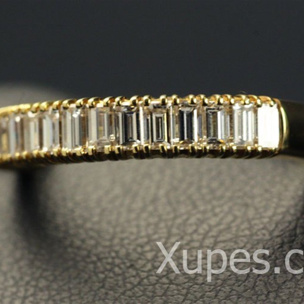 Mappin & Webb 18K Yellow Gold 15 Diamond Half Eternity Ring