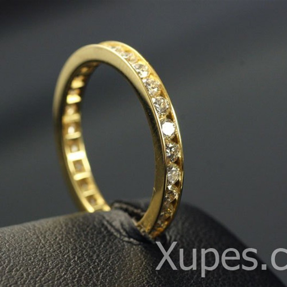 Mappin & Webb 18K Yellow Gold Diamond Eternity Ring