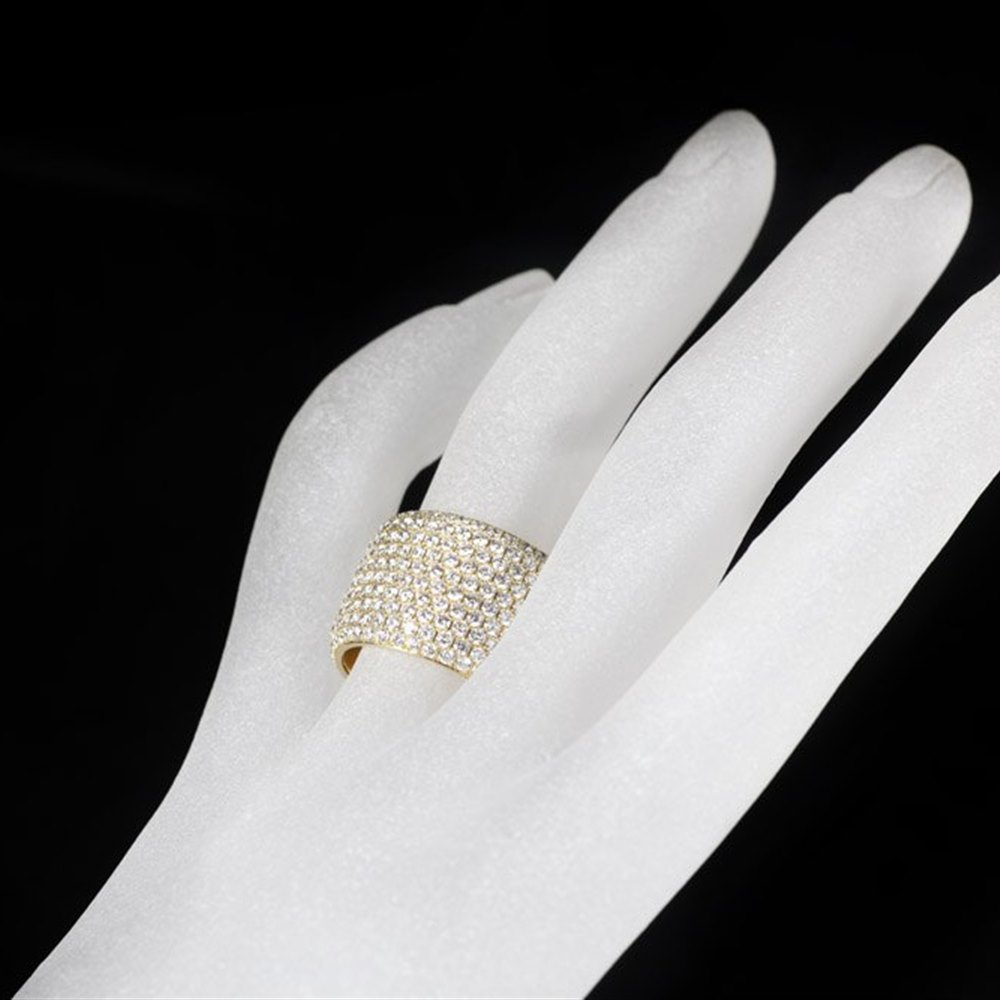 Mappin & Webb 18K Yellow Gold Pave Diamond Ring