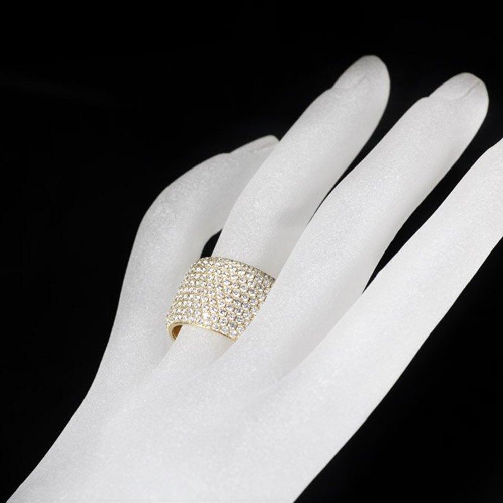 Mappin & Webb 18K Yellow Gold Pave Diamond Ring