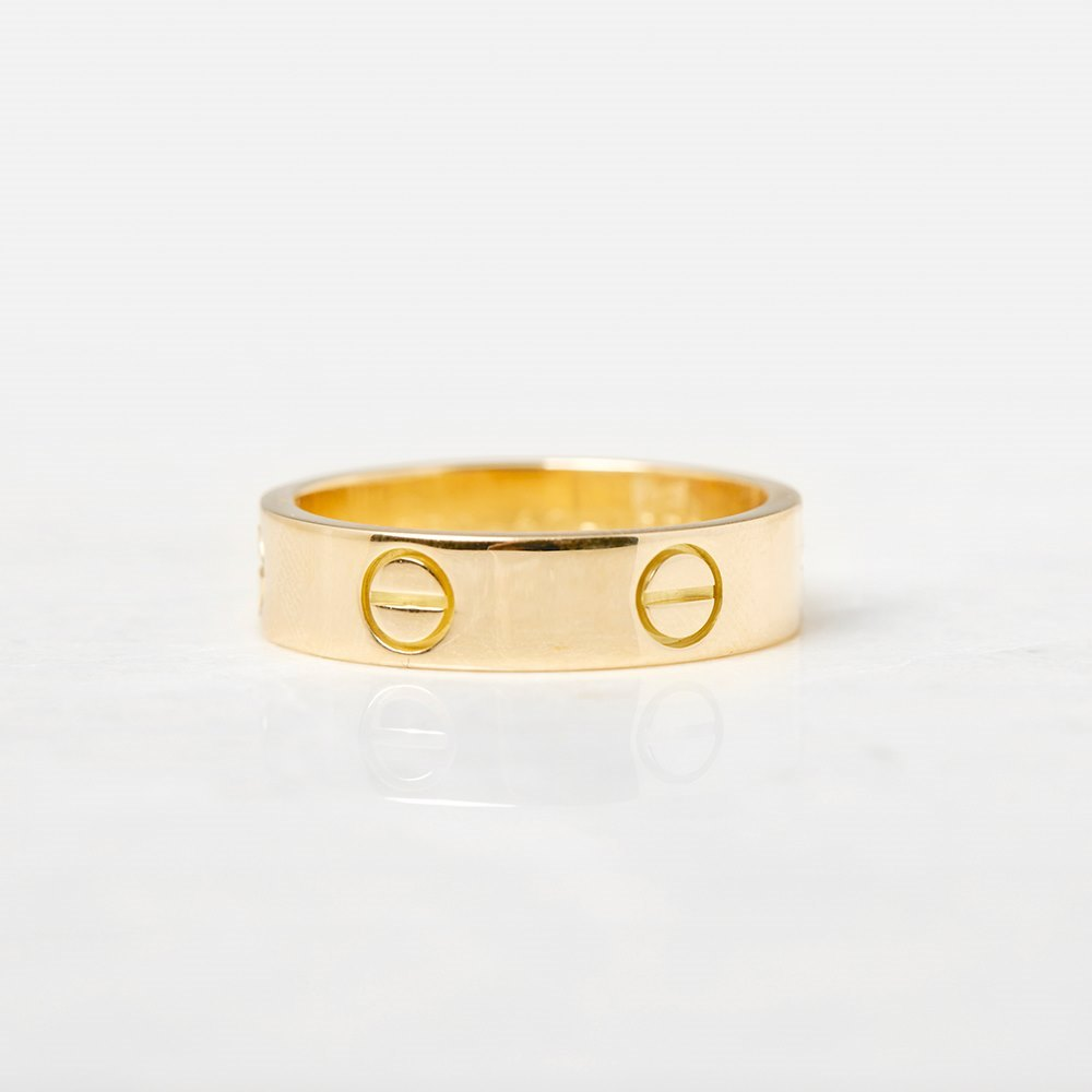 Cartier 18k Yellow Gold Love Ring Size S