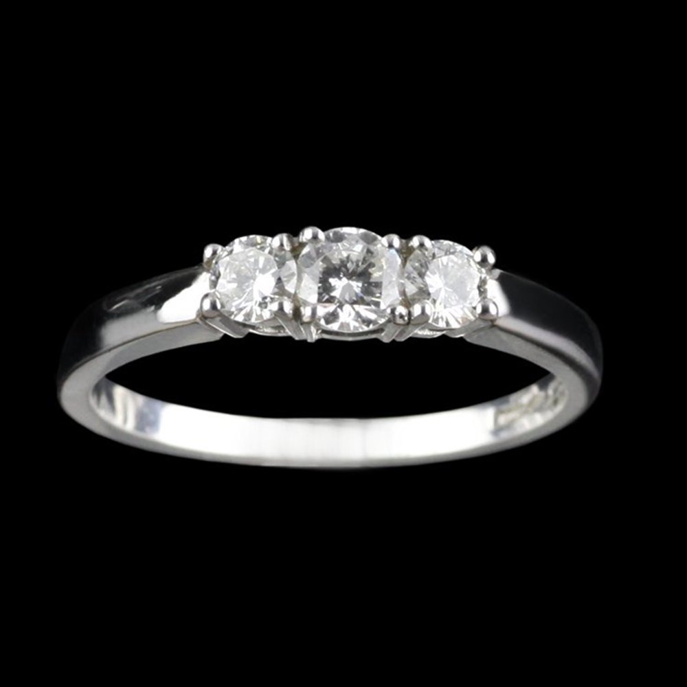 Mappin & Webb Platinum Diamond Trilogy Ring