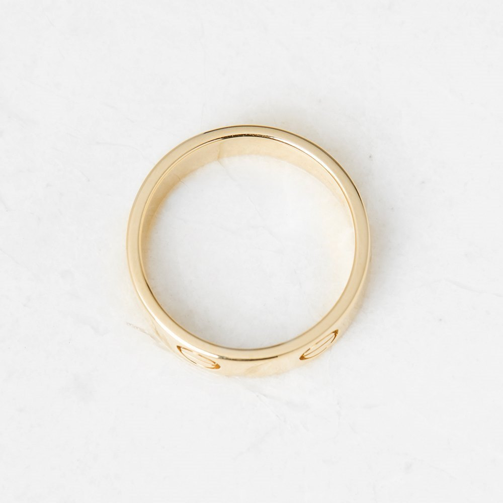 Cartier 18k Yellow Gold Love Ring Size P