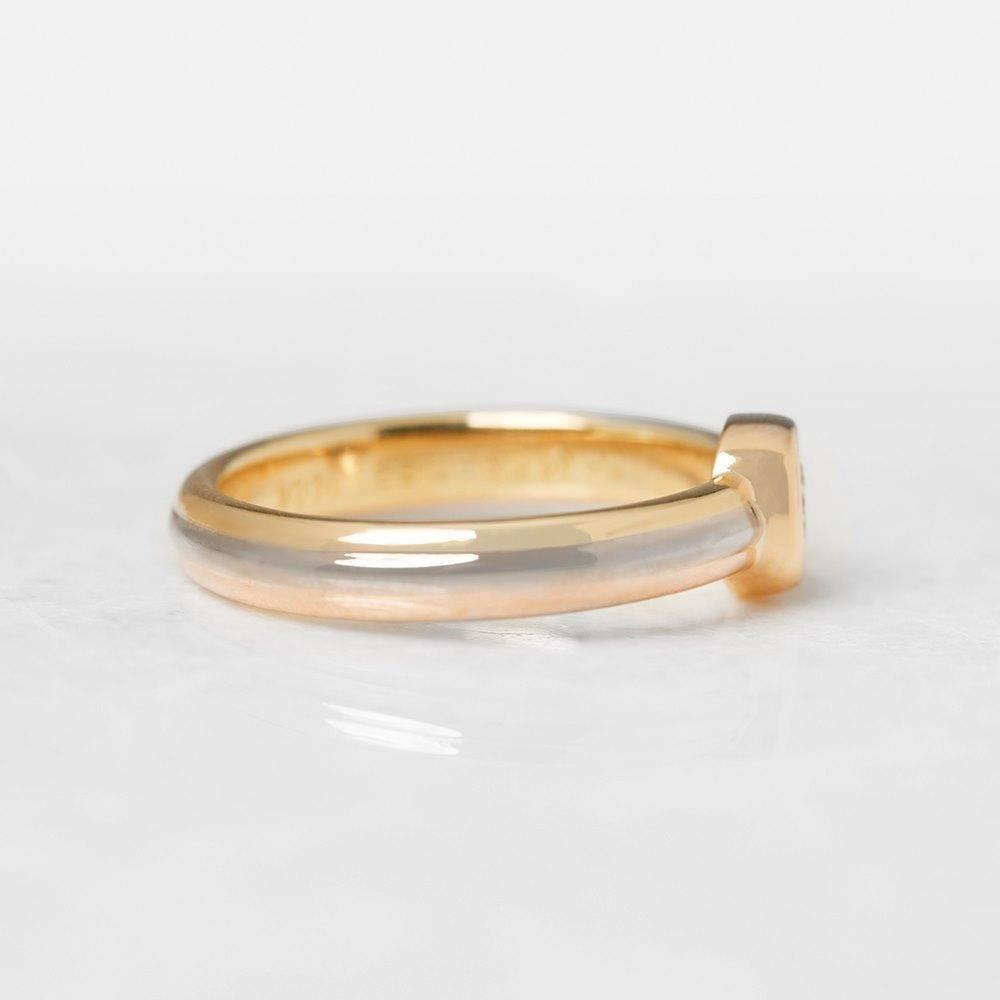 Cartier 18k Yellow, White & Rose Gold Single 0.15ct Diamond Ring