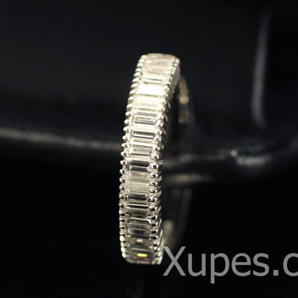 Mappin & Webb Platinum Baguette Diamond Half Eternity Ring