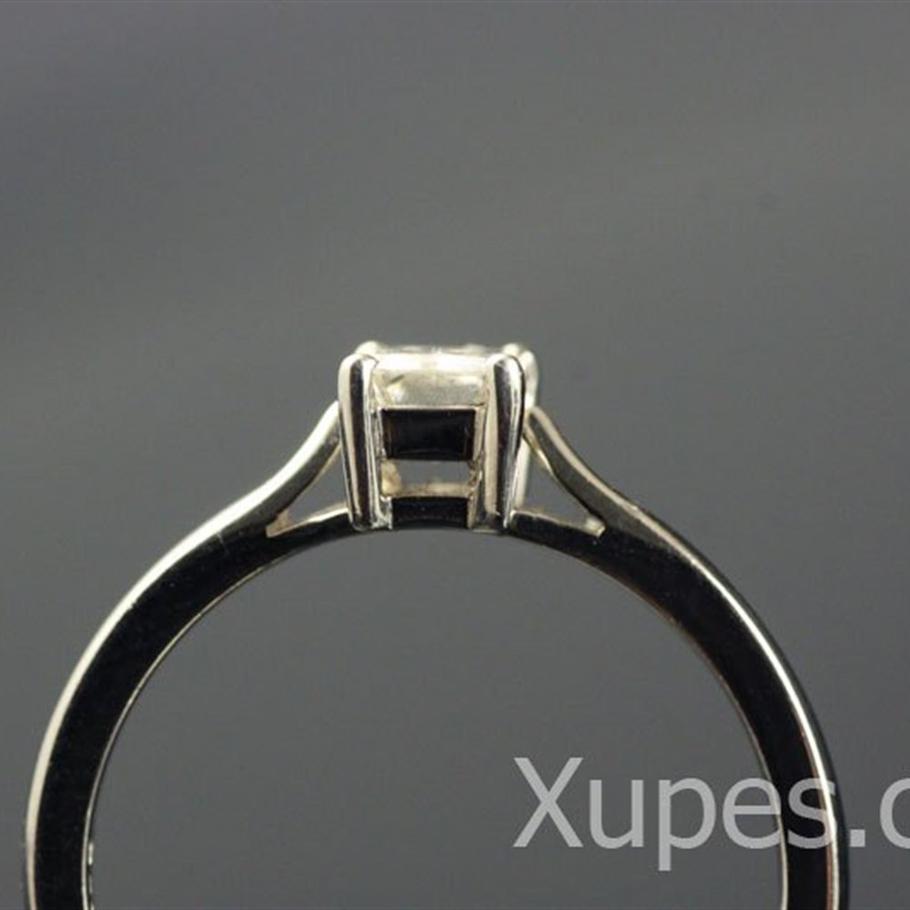 Mappin & Webb Platinum Baguette Diamond Ring