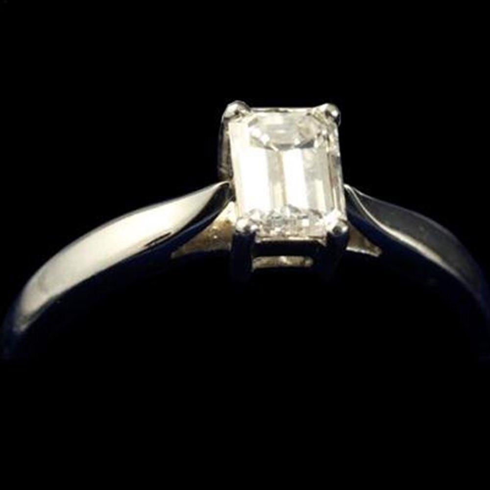 Mappin & Webb Platinum Baguette Diamond Ring