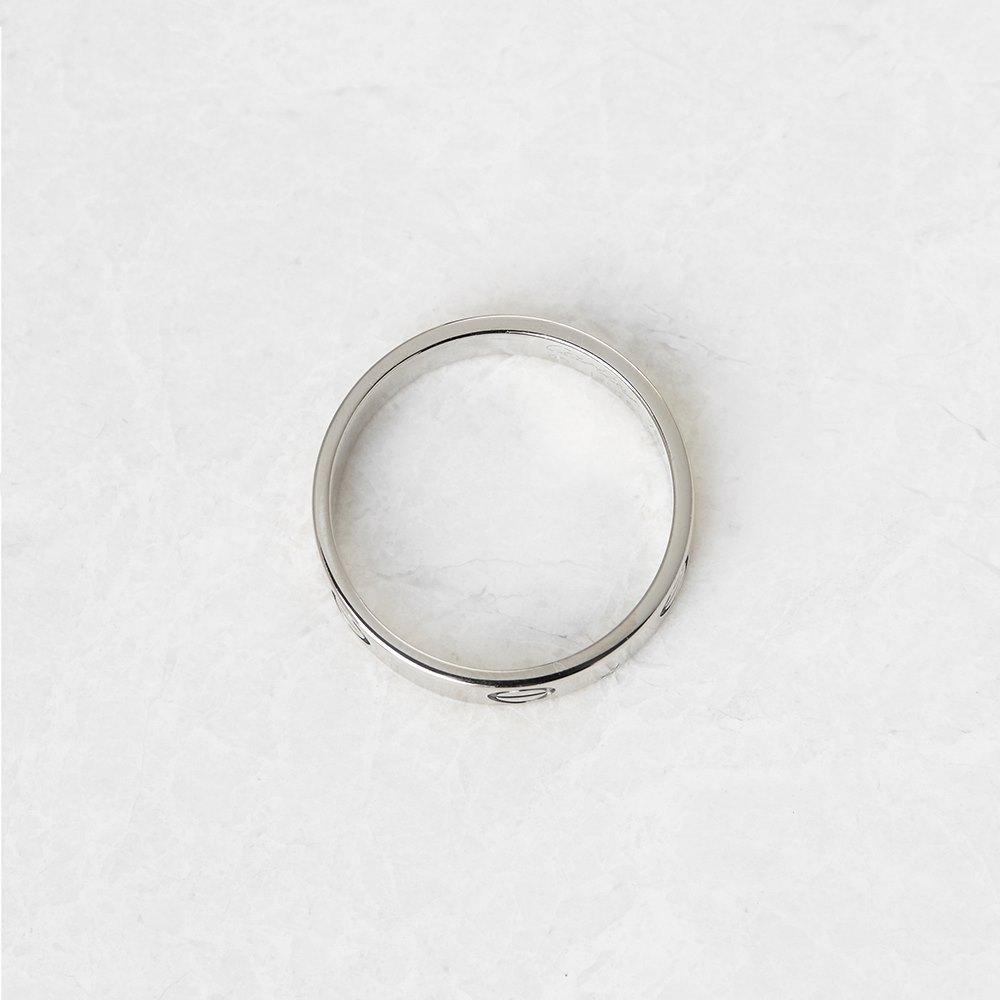 Cartier 18k White Gold Love Ring Size U