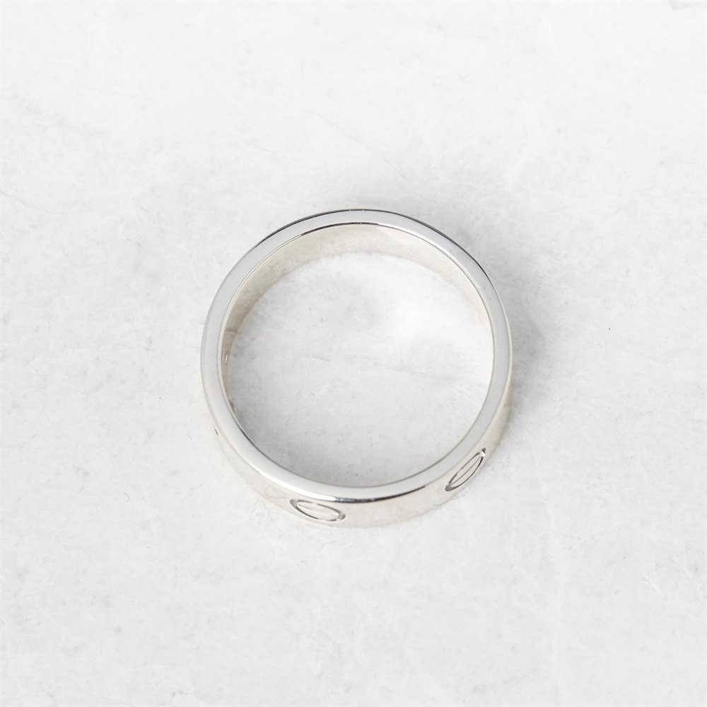 Cartier 18k White Gold Love Ring Size Q.5