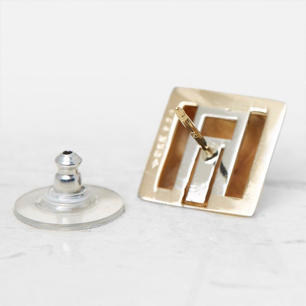 Van Cleef & Arpels 18k Yellow Gold Pyramid Style Stud Earrings