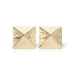 Van Cleef & Arpels 18k Yellow Gold Pyramid Style Earrings